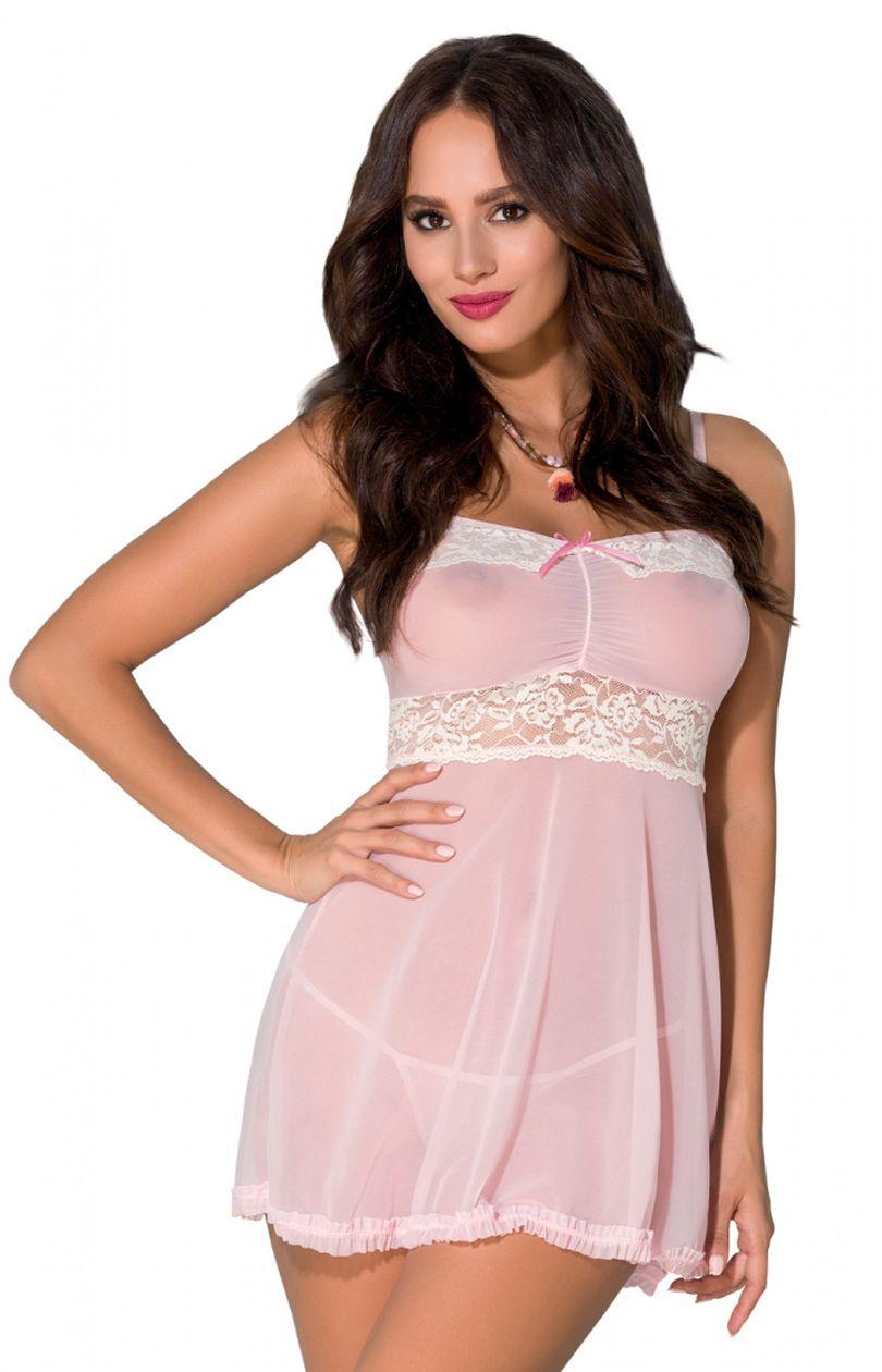 Rasha koszulka nocna różowo biały Sklep INTYMNA.PL™  Rn0zz