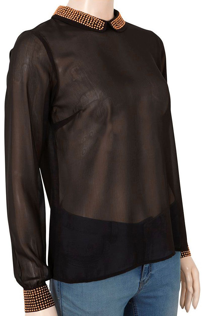 Bluzka 14012826 - czarny - Sklep OHSO.pl™ uMr06WXx