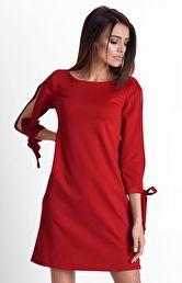 877684c136 czerwone sukienki - Sukienki na sezon 2019 - Moda - długi rękaw ...