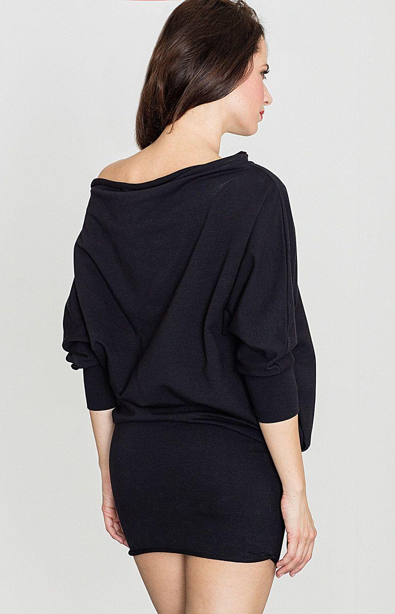 Sukienka K254 - czarny - Sklep OHSO.pl™ pB3AI1kx