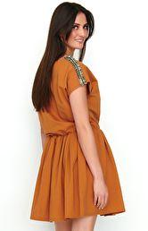 ee343777e8db42 NUMINOU Sukienka ze zdobieniami NU192 NUMINOU Sukienka ze zdobieniami NU192